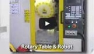 Nikken Rotary Table on Fanuc Robodrill & Robot - Rotary Table & Robot